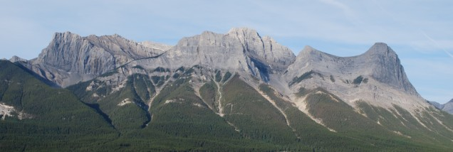 Mount Lawrence Grassi in the middle and Ha Ling to the far right.
