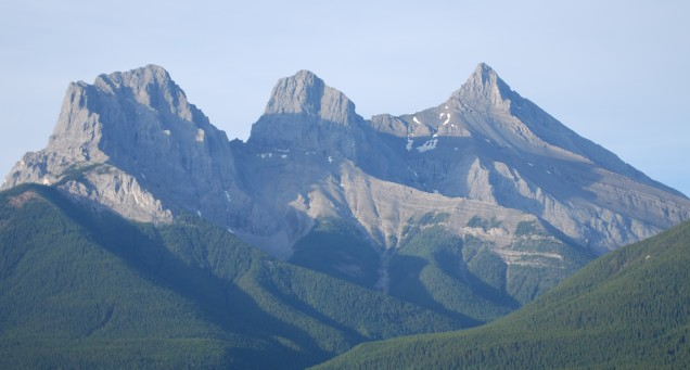 The Three Sisters in summer