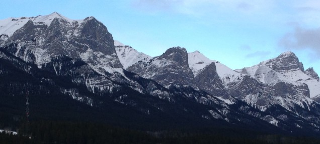 Mount Rundle, looking east to west.
