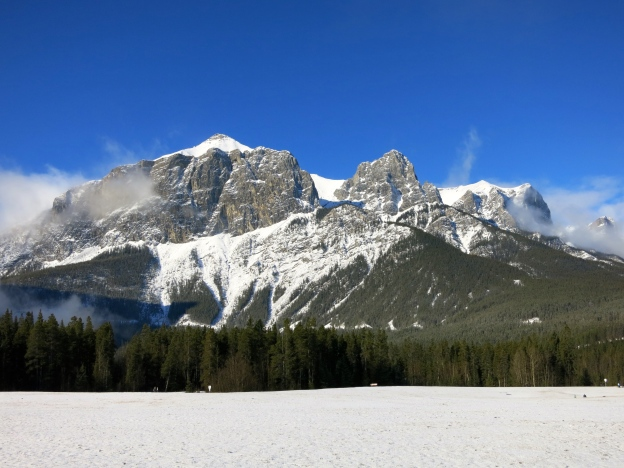 East End of Rundle from Quarry Lake.