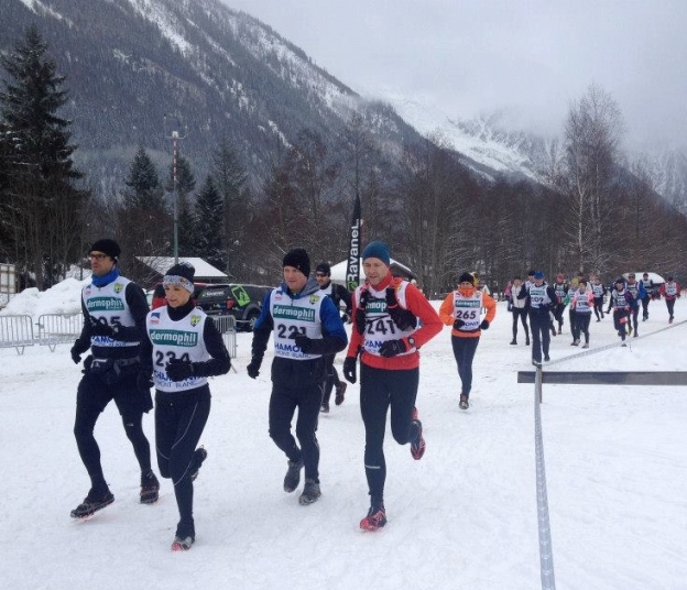 Start of the Run&Skate, Chamonix, 1 March 2015
